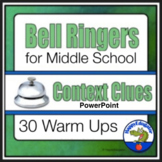 Bell Ringers for Middle School ELA Context Clues Distance Learning