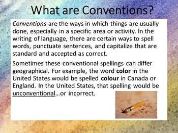 Bell Ringers - Common Core - Conventions