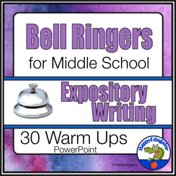 Bell Ringers for Middle School ELA Expository Writing to Support Common Core