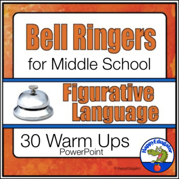 Bell Ringers for Middle School ELA Figurative Language Common Core