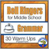 Bell Ringers for Middle School ELA Grammar and Usage to Support Common Core