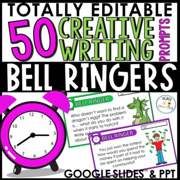 Writing Prompt Bell Ringers Digital