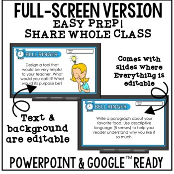 Distance Learning Writing Prompts | Digital Story Starters