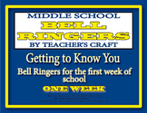 Middle School Bell Ringers - Getting To Know You