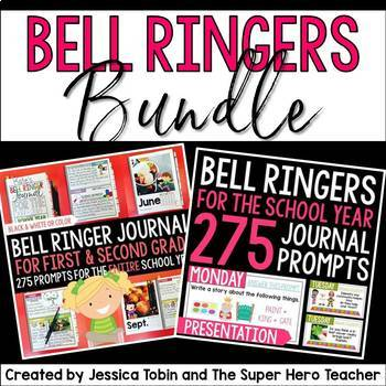 Bell Ringers Journal and Presentation Bundle for Grades 1-2