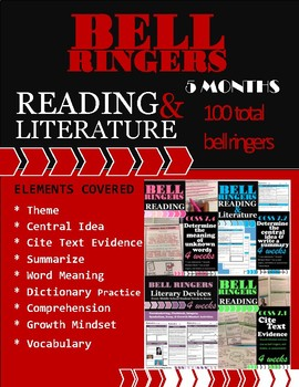 Bell Ringers Bundle: Literature & Reading 5 Months (20 weeks) 100 Total
