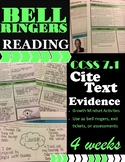 Bell Ringers: Literature & Reading CCSS 7.1 Cite Textual Evidence