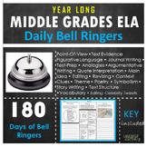 Bell Ringers-Middle Grades ELA