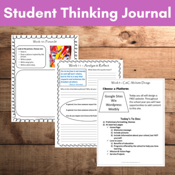 Bell Ringers & Journal DIGITAL & PAPER: Middle & HS