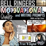 Bell Ringers: Motivational Quotes and Prompts for Growth M