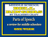 Middle School ELA Bell Ringers - Parts of Speech