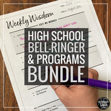 Bell-Ringers & Programs Bundle for HIGH School English