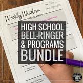 Bell-Ringers & Programs Bundle for HIGH School ELA