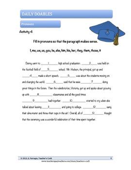 Middle School ELA Bell Ringers - Pronouns