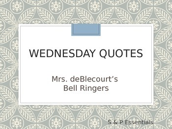 Bell Ringers: Quotes