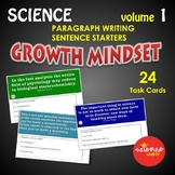 STEAM Growth Mindset Sentence and Paragraph Starters Vol.1