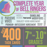 Bell Ringers Task Cards Bundle: Grammar Errors for Language Arts