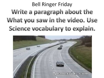 Bell Ringers Topic: Verbs and Nouns