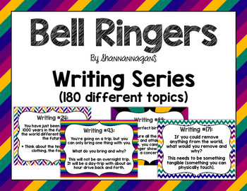 Full Year of Writing Prompts (180 Total) - Great for Bell Ringers!