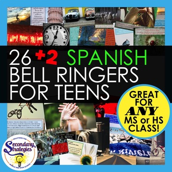 Spanish Bell Ringers Writing Prompts For Middle and High School