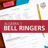 Bell Ringers for Algebra 1 - Complete Set (Skills Review P