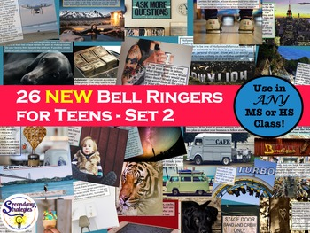 Bell Ringers Writing Prompts For Any Middle or High School-Set 2