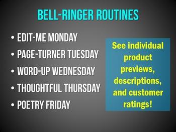 Bell-Ringers & Programs Bundle for MIDDLE School ELA {UPDATED}