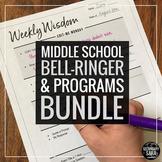Bell-Ringers & Programs Bundle for MIDDLE School ELA
