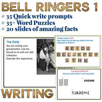 Bell Ringers for High School ELA - BTS set 1