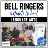 Bell Ringers for Language Arts MONTHS 1-3   Google Classro