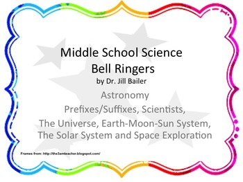 Bell Ringers for Middle School Astronomy