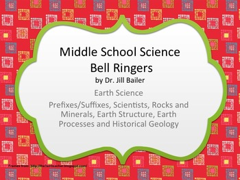 Bell Ringers for Middle School Earth Science