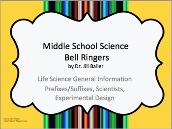 Bell Ringers for Middle School-General Information for Lif
