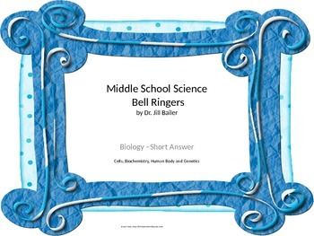 Bell Ringers for Middle School Life Science  Part 1