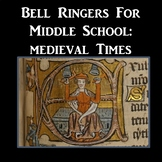 Bell Ringers for Middle School Medieval Times (Printable D