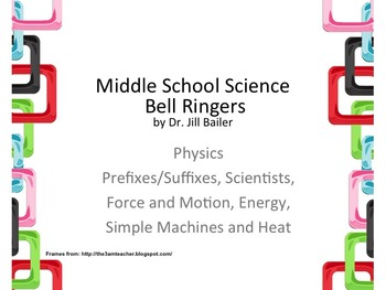 Bell Ringers for Middle School Physics