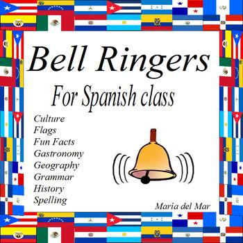 Bell Ringers for Spanish class for one semester