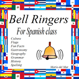 Bell Ringers for Spanish class for one semester (Do Now)