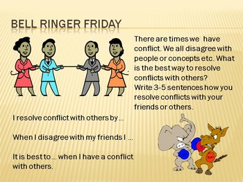 Bell Ringers topic: Conflict & Resolution