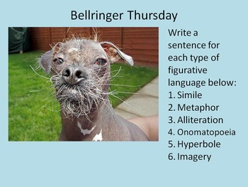 Bell Ringers topic: Figurative Language Part 2