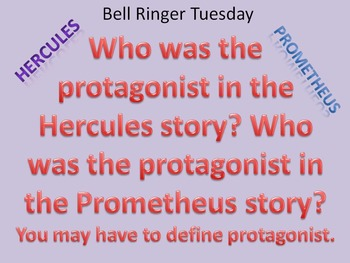 Bell Work topic: Hercules vs Prometheus stories
