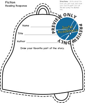Bell Shaped Reading Response Sheets for Any Book