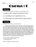Bell Work 1-6