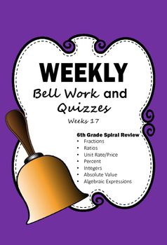 6th Grade Bell Work