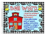 Bell Work BUNDLE for grades 3-4-5 Language Arts by Element