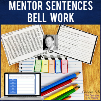 Bell Ringers for Middle School:  Perseverance Text-Based Mentor Sentences