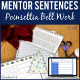 Bell Ringers for Middle School: 3 weeks Text-based Poinset