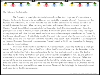 Bell Ringers for Middle School: 3 weeks Text-based Poinsettia Mentor Sentences