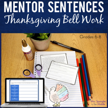 January bell ringer teaching resources teachers pay teachers bell ringers for middle schoolmonth of text based thanksgiving mentor sentences fandeluxe Images