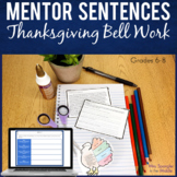 Bell Ringers for Middle School:Month of Text-based Thanksg